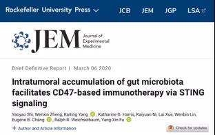 JEM:肠道微生物助力CD47抑制剂对抗肿瘤